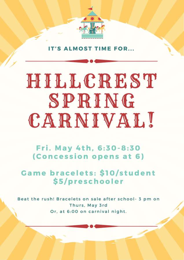 Hillcrest Spring Carnival Poster